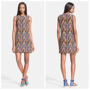 NWIT-100^ Silk Missoni Chic ZigZag Shift Dress